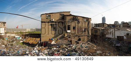 Poor Buildings In Front Of Shanghai