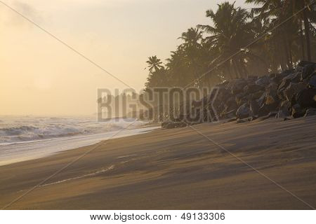 Varkala During A Sunset In India