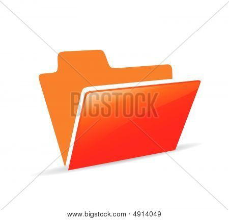 different color vector folder icon with white background poster