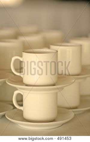 Stacked Coffee Cups