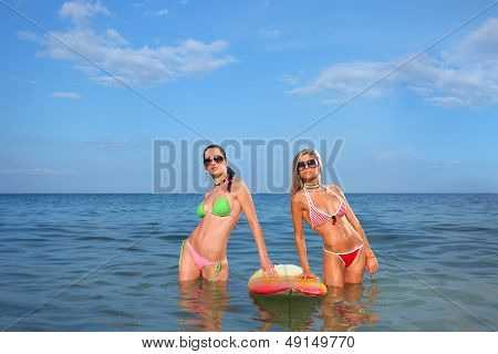 Girls with a Surfboard