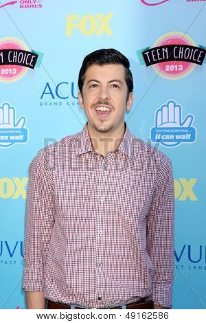 LOS ANGELES - AUG 11:  Christopher Mintz-Plasse at the 2013 Teen Choice Awards at the Gibson Ampitheater Universal on August 11, 2013 in Los Angeles, CA