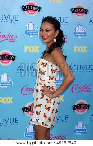 LOS ANGELES - AUG 11:  Janel Parrish at the 2013 Teen Choice Awards at the Gibson Ampitheater Universal on August 11, 2013 in Los Angeles, CA