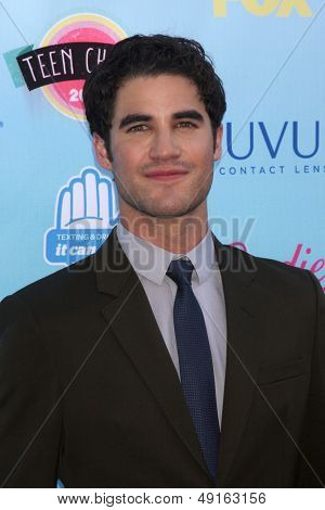 LOS ANGELES - AUG 11:  Darren Criss at the 2013 Teen Choice Awards at the Gibson Ampitheater Universal on August 11, 2013 in Los Angeles, CA