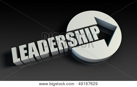 Leadership Concept With an Arrow Going Upwards 3D
