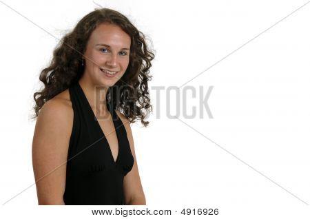 Beautiful Teenage Girl Isolated