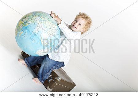Young happy traveler