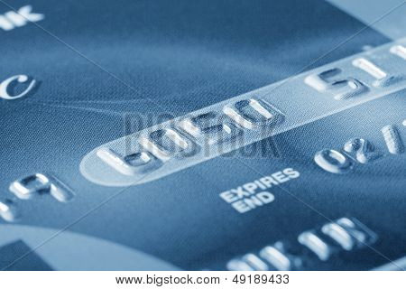 Fragment Of Credit Card With The Numbers