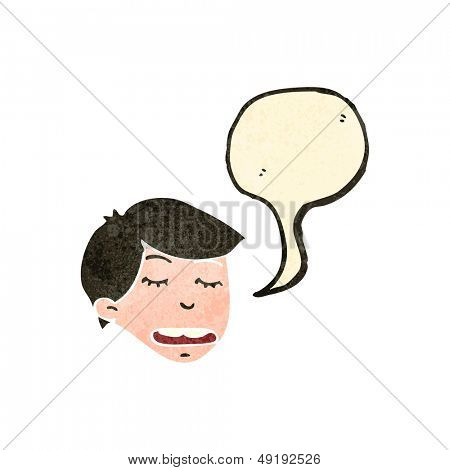 retro cartoon arrogant boy talking