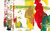 abstract acrylic painting, palette knife texture poster