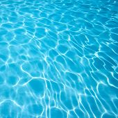 Ripple on blue water high quality photo poster