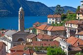 Landscapes around famous lake Como in northern Italy poster