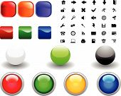 Collection of different icons for using in web design poster