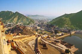 Panorama of Amer from the Amber Fort