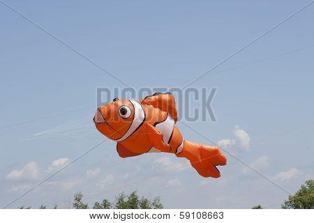 Orange And White Nemo Clownfish Kite