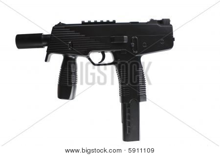 MP-UZI-Machinegun - isolated on white Background