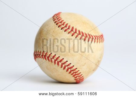 Worn Baseball with no logos isolated on white
