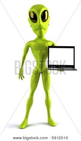 Fun green alien
