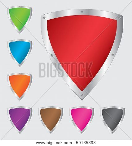 Colorful shield set