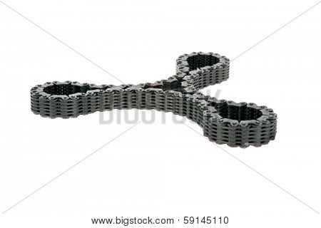 Genuine Car Transmission Gears, Chains, Bearings and more. All made out of Steel and iron. These are important parts of any car or vehicle in order to move from place to place. Isolated on white