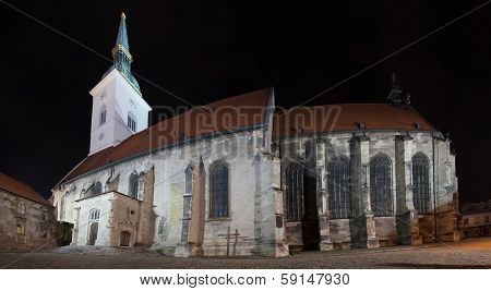 Night Panorama With Cathedral