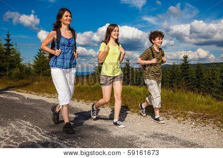 Family on walking tour