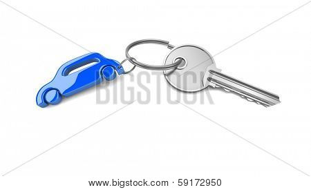 Key chain. Concept of success. 3d visualization poster