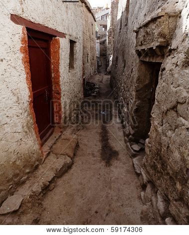 Detail From Old Town - Leh - Ladakh - Jammu And Kashmir - India