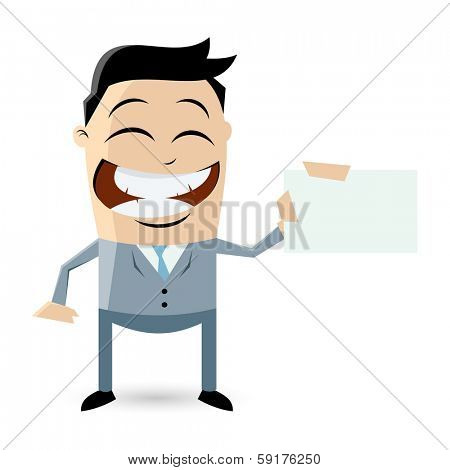businessman with empty businesscard
