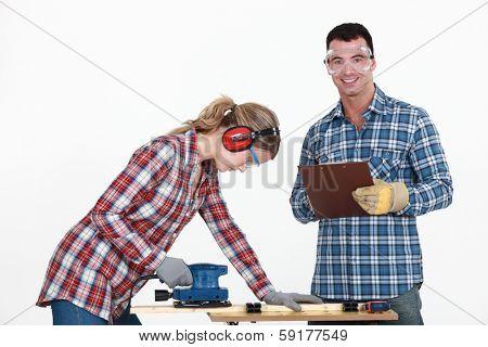Craftsman and craftswoman