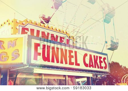 Funnel cake  stand at a fair