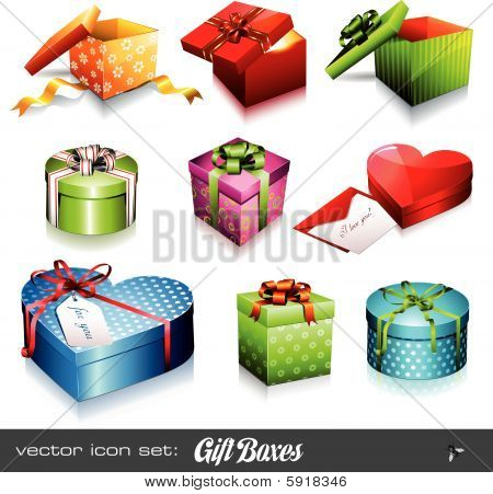 vector set: gift boxes
