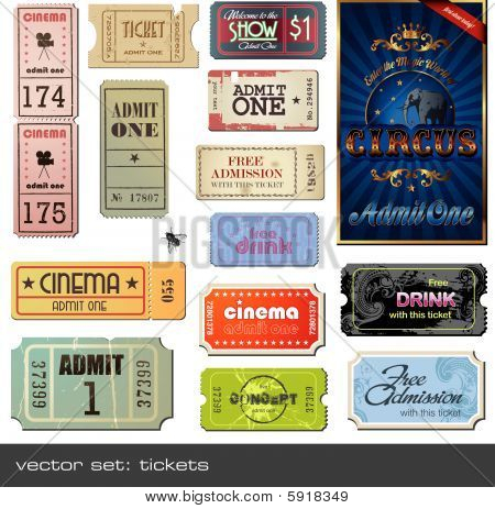 vector set: tickets