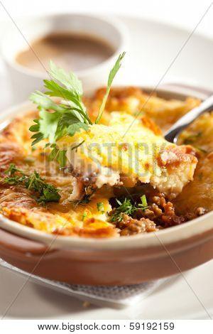 Shepherd's Pie with Mushrooms Sauce