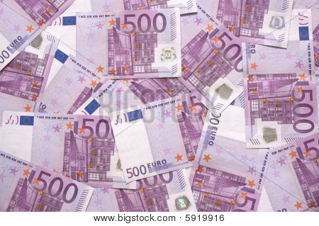 Background Of European Currency 500 Notes