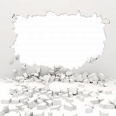 3d wall destruction poster