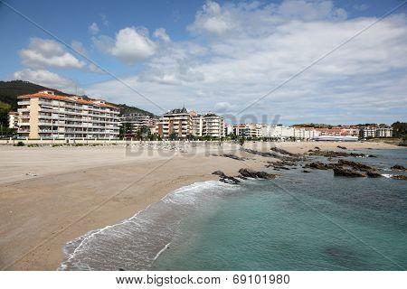 Beach In Town Castro Urdiales, Spain