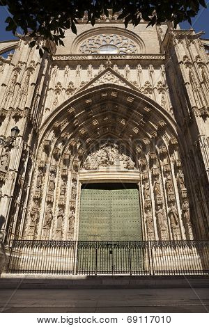The Cathedral Of Seville Gate