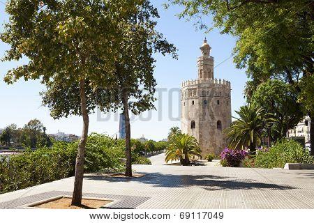 The Golden Tower In Seville
