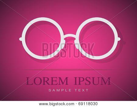 Vector Image Of Glasses White