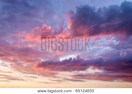 Sky With Beautiful Clouds At Sunset