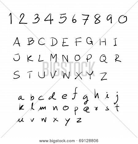 Sketch Alphabet Hand Drawn