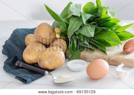 Ingredients For Gnocchi With Wild Garlic
