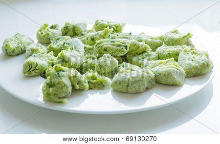 Gnocchi With Wild Garlic Is Prepared
