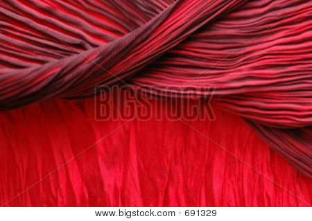 Red theater curtains. poster
