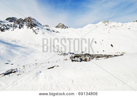 View Of Town Tighnes In Paradiski Area, France