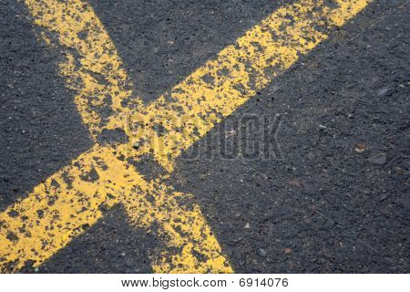 Asphalt With Yellow Lines