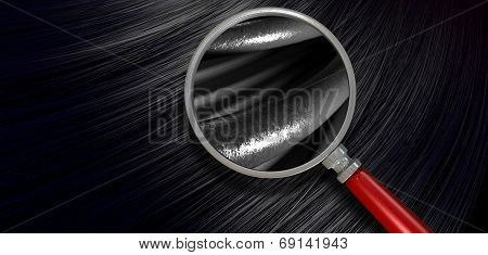 Black Hair Blowing With Magnification