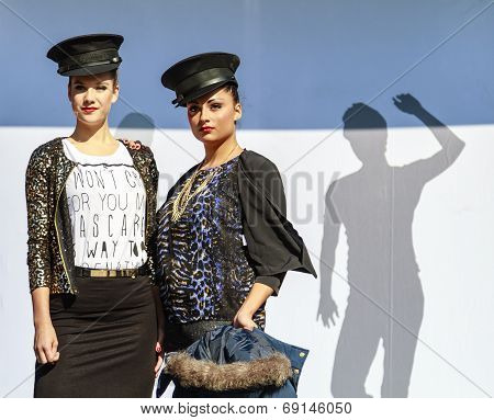 Two Models Standing