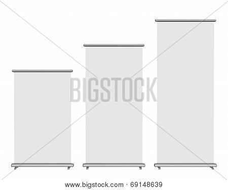 Blank Roll-up Banner Display, Clipping Path Included